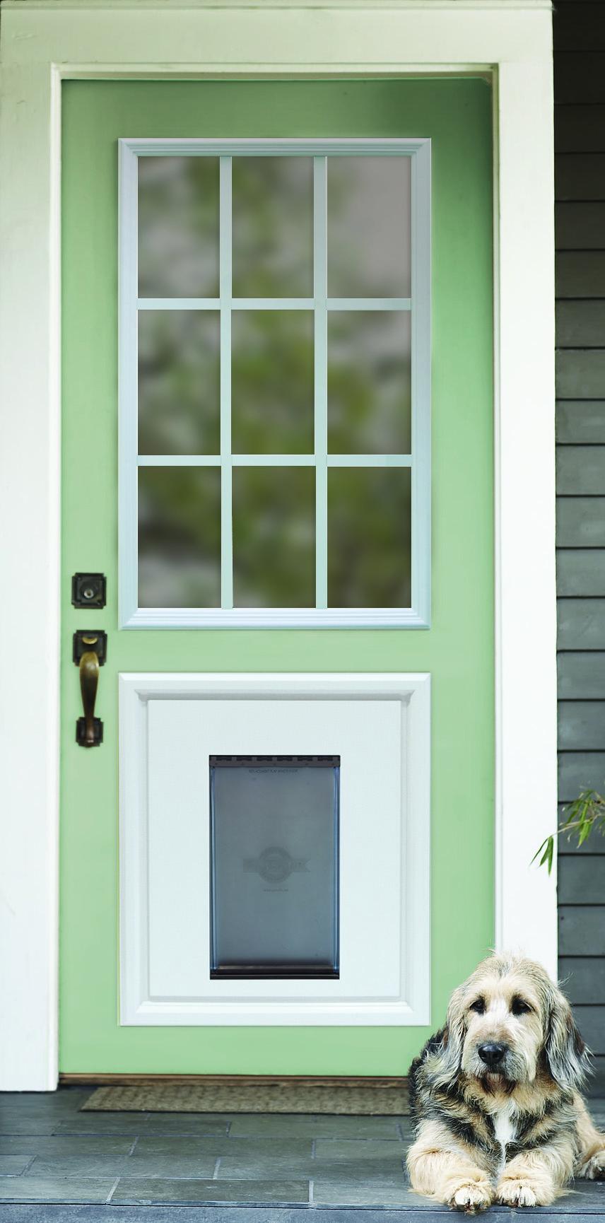 6 Panel Door History >> Pet Door - RSL Doorglass