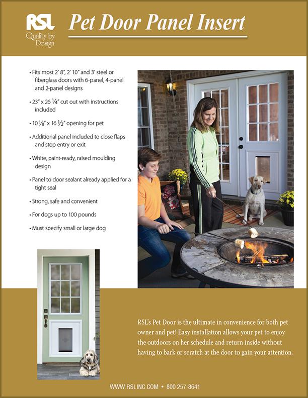 Door Installation Flyers : Brochures flyers rsl doorglass