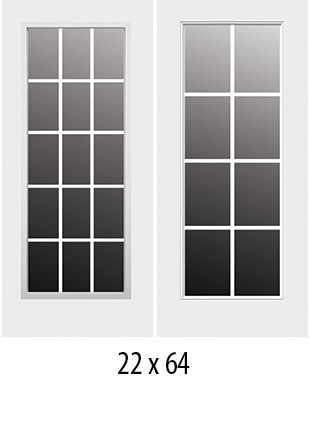 Simulated Divided Light Rsl Doorglass